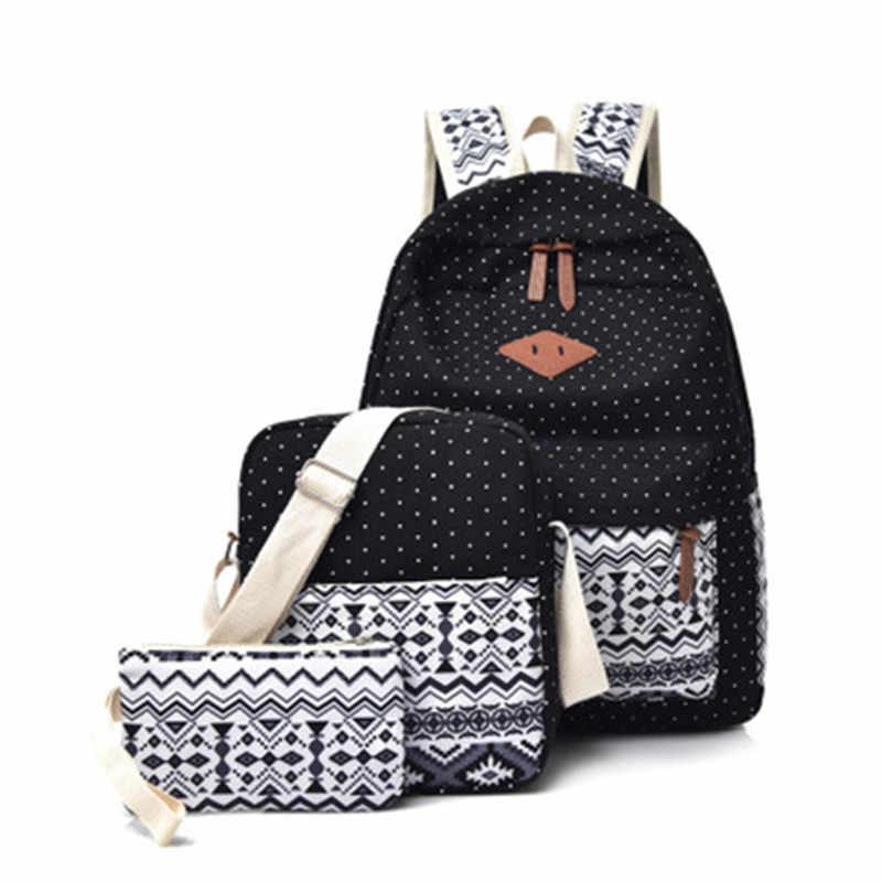Стильный женский городской рюкзак 3 в 1 в скандинавском стиле тканевый 01036
