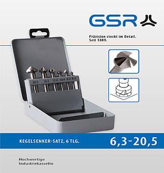 Набір зенкерів DIN 335 C 90° HSS GSR 6шт.  GSR Німеччина