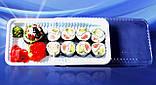 Упаковка для суши арт. 203Т/203В с коричневым и белым дном, фото 4