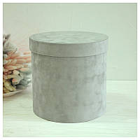 Бархатная круглая коробка d=20 h=20 см, фото 1