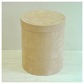 Бархатная круглая коробка d=20 h=25 см