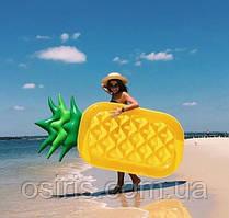 Матрас надувной для плавания Ананас (для пляжа и бассейна) Размер 180 х 90 см