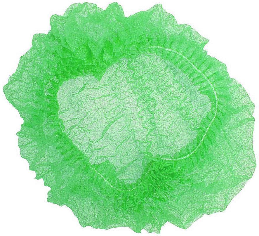 Шапочка одноразовая на одной резинке Polix PRO&MED (100шт в упаковке) 1000 ШТ Спанбонд Зеленая