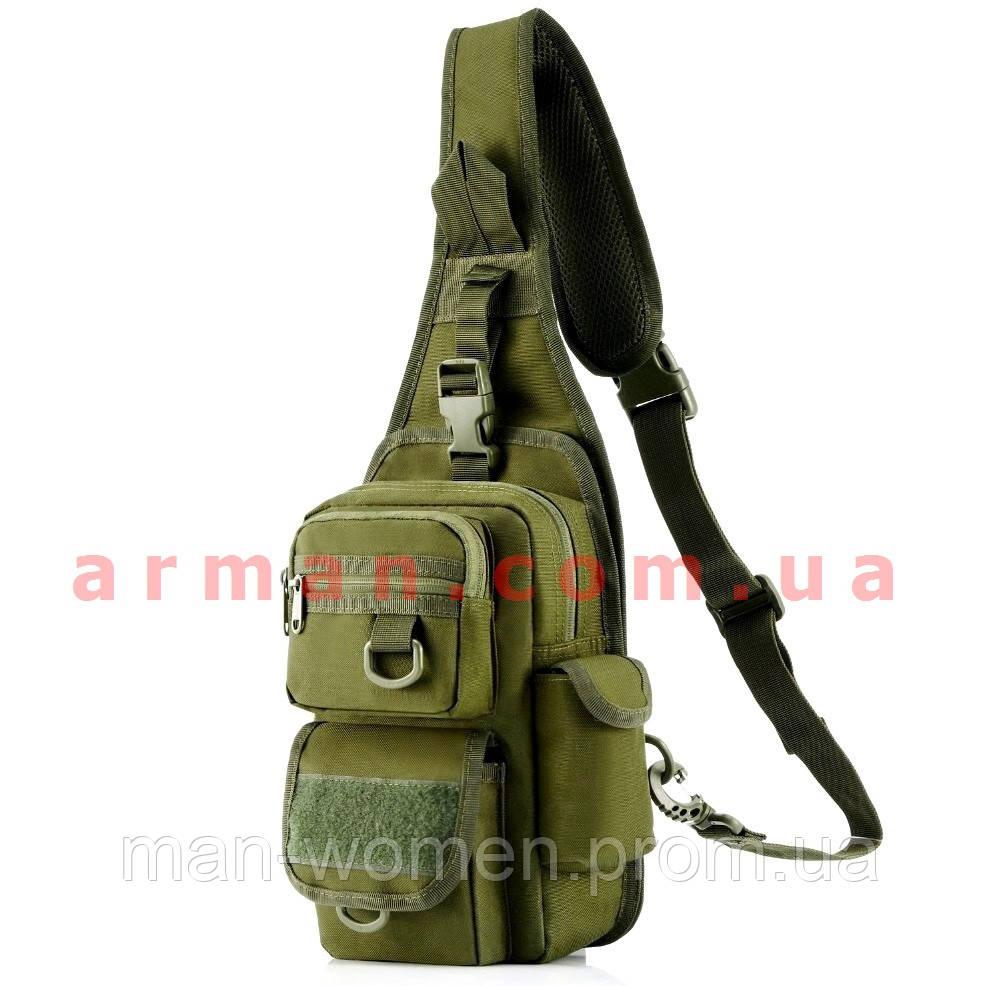 bcb06c1c4 Тактическая EDC сумка-рюкзак однолямочная, с отделением под пистолет.  Цвета: олива,