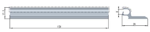 Схема оклейки профиля фиксирующего AEG84F/U