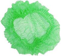 Шапочка одноразовая на двойной резинке Polix PRO&MED (100шт в упаковке) Спанбонд Зеленая