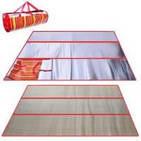 Пляжная подстилка сумка Солома 90*180см ( коврик для пляжа )