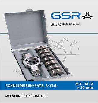 Набір плашок 25х9 HSSG М3-М12 + плашкотримач 25х9 GSR Німеччина