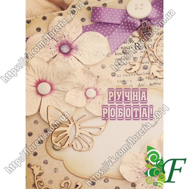 Бирка открытка 5 х 7 см Бумажные цветы за 100 шт