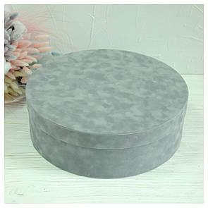 Бархатная круглая коробка d=31 h=10 см