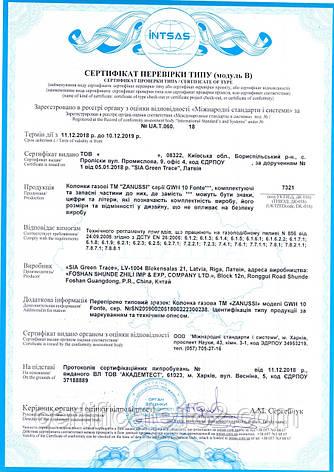 Сертификат проверки типа на газовые колонки, фото 2