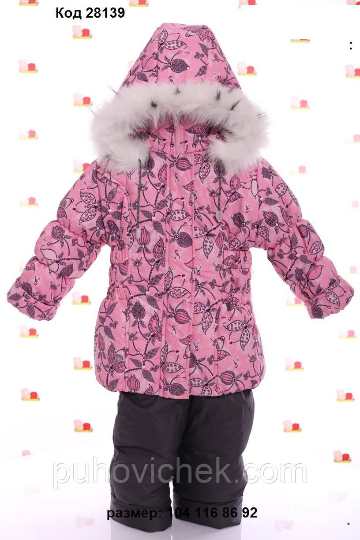 Зимові комбінезони для дівчаток теплі на овчинка