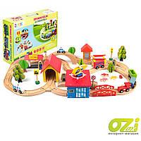 Деревянная железная дорога Doris Kids Fun Railway 69 ел.
