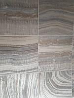 Виниловые обои на флизелиновой основе Ugepa Reflets L32809 серые с коричневым под плитку срез камня моющиеся