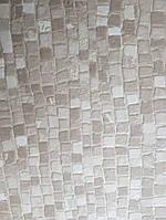 Виниловые обои на флизелиновой основе Ugepa Reflets L78407 бежевые серые с белым мозаика моющиеся 3d