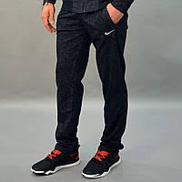 Мужские спортивные штаны Nike (Найк) / Трикотаж двухнитка / Размеры 46-52 / темно синие