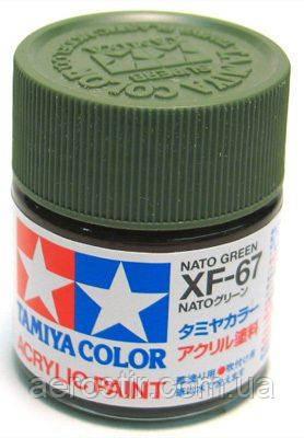 Краска Tamiya XF-67 NATO Green 10 мл.