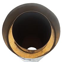 Труба-сэндвич дымоходная D-160/220 мм S-0,8 мм L-1 метр AISI 321 нержавейка/нержавейка - «Stalar», фото 3