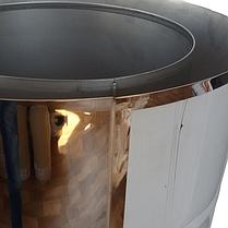 Труба-сендвіч димохідна D-120/180 мм S-1 мм L-1 метр AISI 321 неіржавіюча сталь/неіржавіюча сталь - «Stalar», фото 2