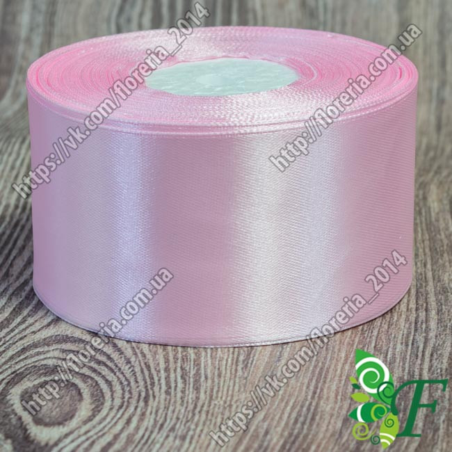 038 - Атласная лента 33 м 5 см розовый