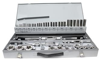 Набір ручних мітчиків і плашок 64шт. DIN 352/223 M3-M24  HSSE GSR Німеччина