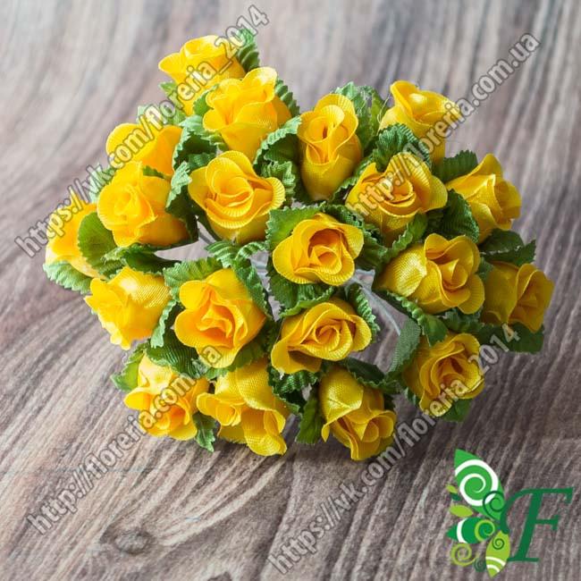 Букетик Бутоны роз желтый