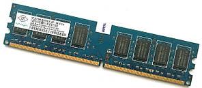 Оперативная память Nanya DDR2 2Gb 800MHz PC2 6400U CL6 (NT2GT64U8HD0BY-AD) Б-У