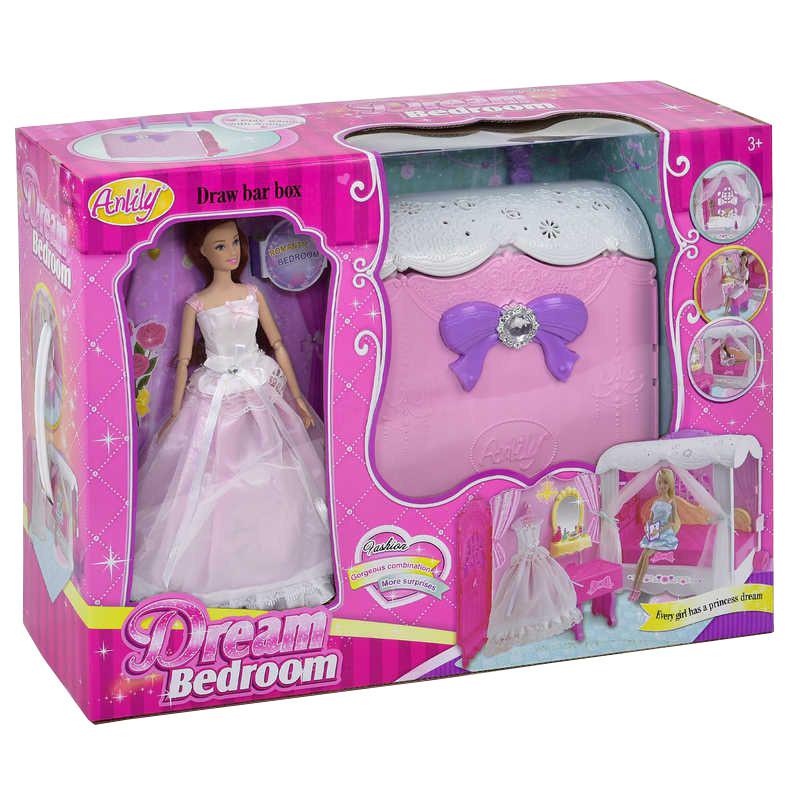 Кукла типа Барби в бальном платье Anlily 99047 с чемоданом