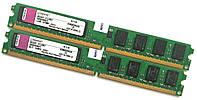 Пара оперативной памяти Kingston DDR2 4Gb (2Gb+2Gb) 800MHz PC2 6400U LP CL5 (KVR800D2N5/2G) Б/У, фото 1
