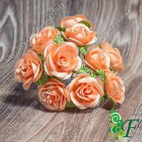 Букетик роза Билона_персиковая