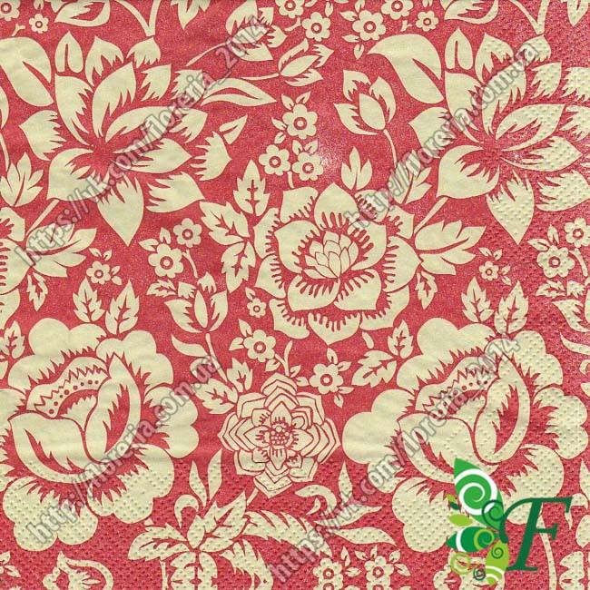 Салфетка Цветы марсала