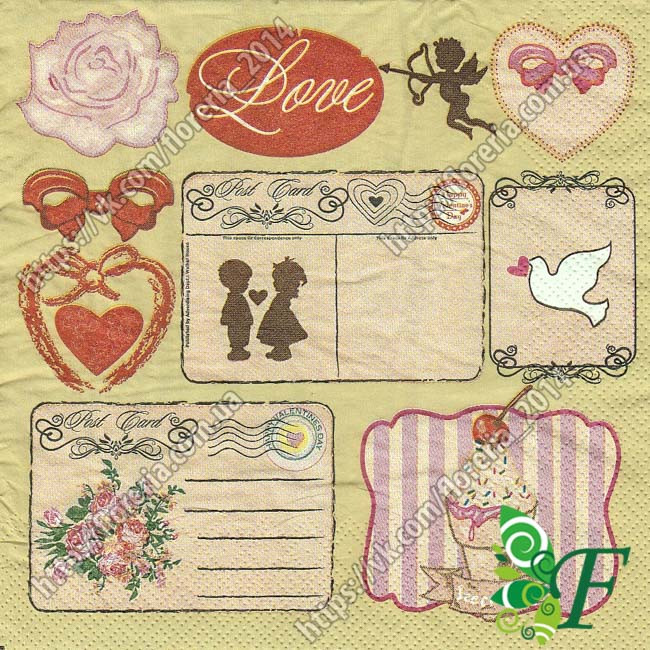 Салфетка Любовные записки_упаковка