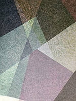 Виниловые обои на флизелиновой основе Ugepa Reflets 571606 разные цвета геометрические  фигуры разные  3d
