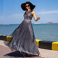 """Довге леопардове вечірню літню сукню """"Камалія максі"""", фото 1"""