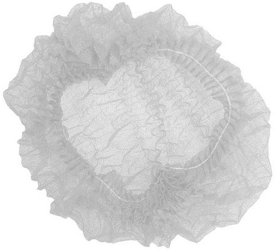 Шапочка одноразовая на двойной резинке Polix PRO&MED (100шт в упаковке) Спанбонд Белая