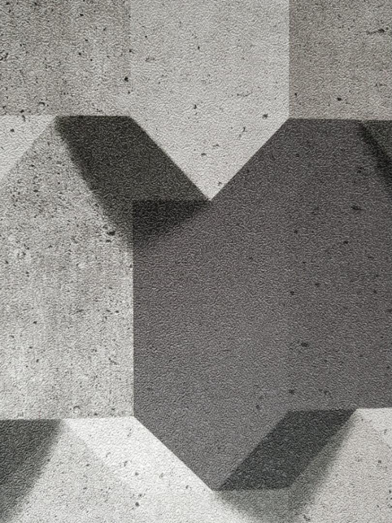 Виниловые обои на флизелиновой основе Ugepa Reflets L77909 черные серые коричневые фигуры разные