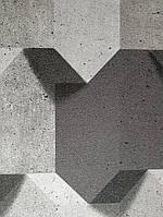 Виниловые обои на флизелиновой основе Ugepa Reflets L77909 черные серые коричневые фигуры разные, фото 1
