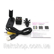 Мощная мини камера видеорегистратор SQ11 1080 FULL HD, фото 3
