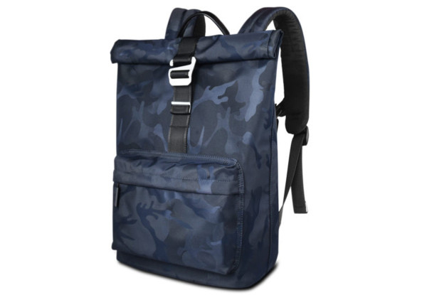 "Рюкзак WIWU Vigor Backpack для MacBook 15 ""Синий / Камуфляж (6957815510559)"