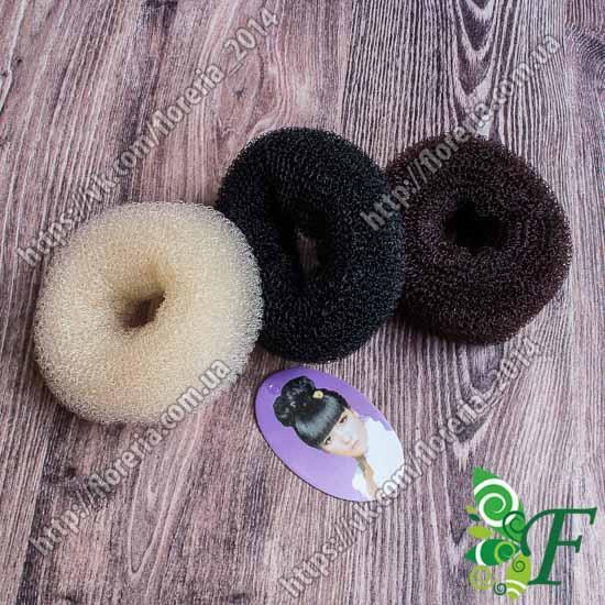 Валик для волос 6 см_черный