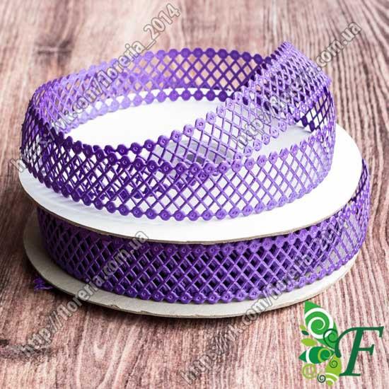 Тесьма атласная сетка 2 см_фиолетовый