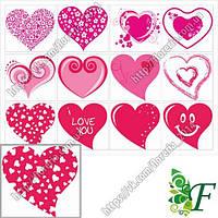 Бирка-открытка_4.5х5см_12 шт(лист)_Сердца БРАК