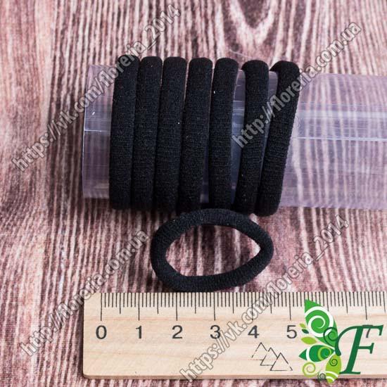 Резинка бесшовная МИНИ черная Упаковка