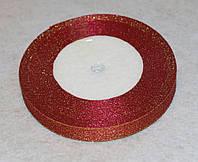 Лента парча 915-23 красная 12 мм