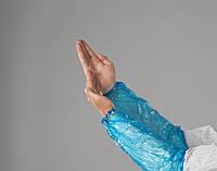 Нарукавники из полиэтилена Polix PRO&MED (100шт в упаковке) Синие