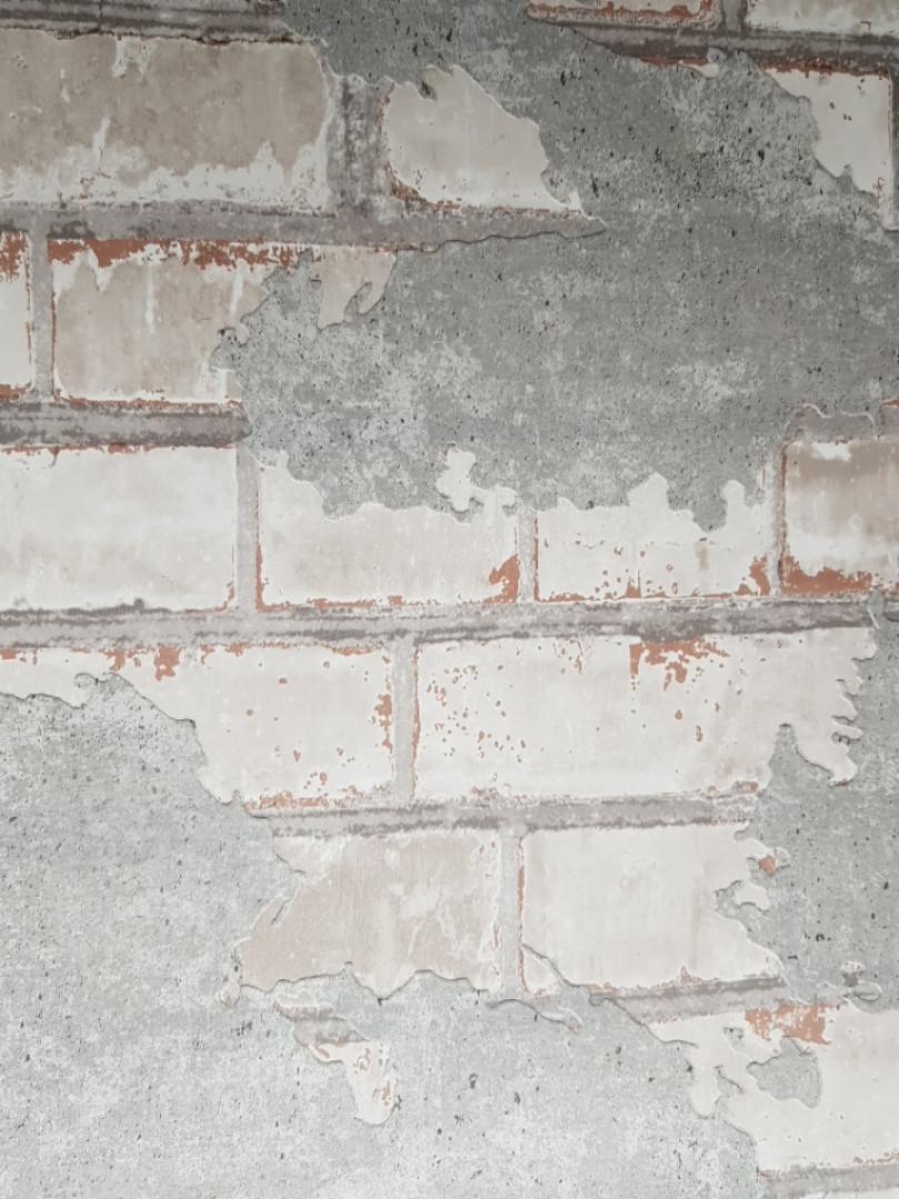 Виниловые обои на флизелиновой основе Ugepa Reflets L77609 светло серые под кирпич и серую штукатурку 3d