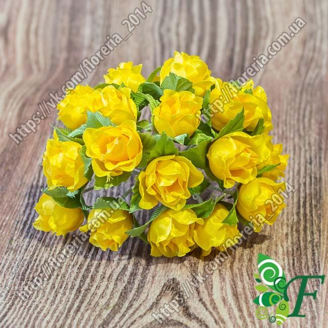 Букетик розочки Бокал желтый