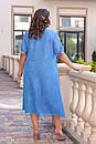 Платья женское масло-шифон 56-62 размер , фото 2