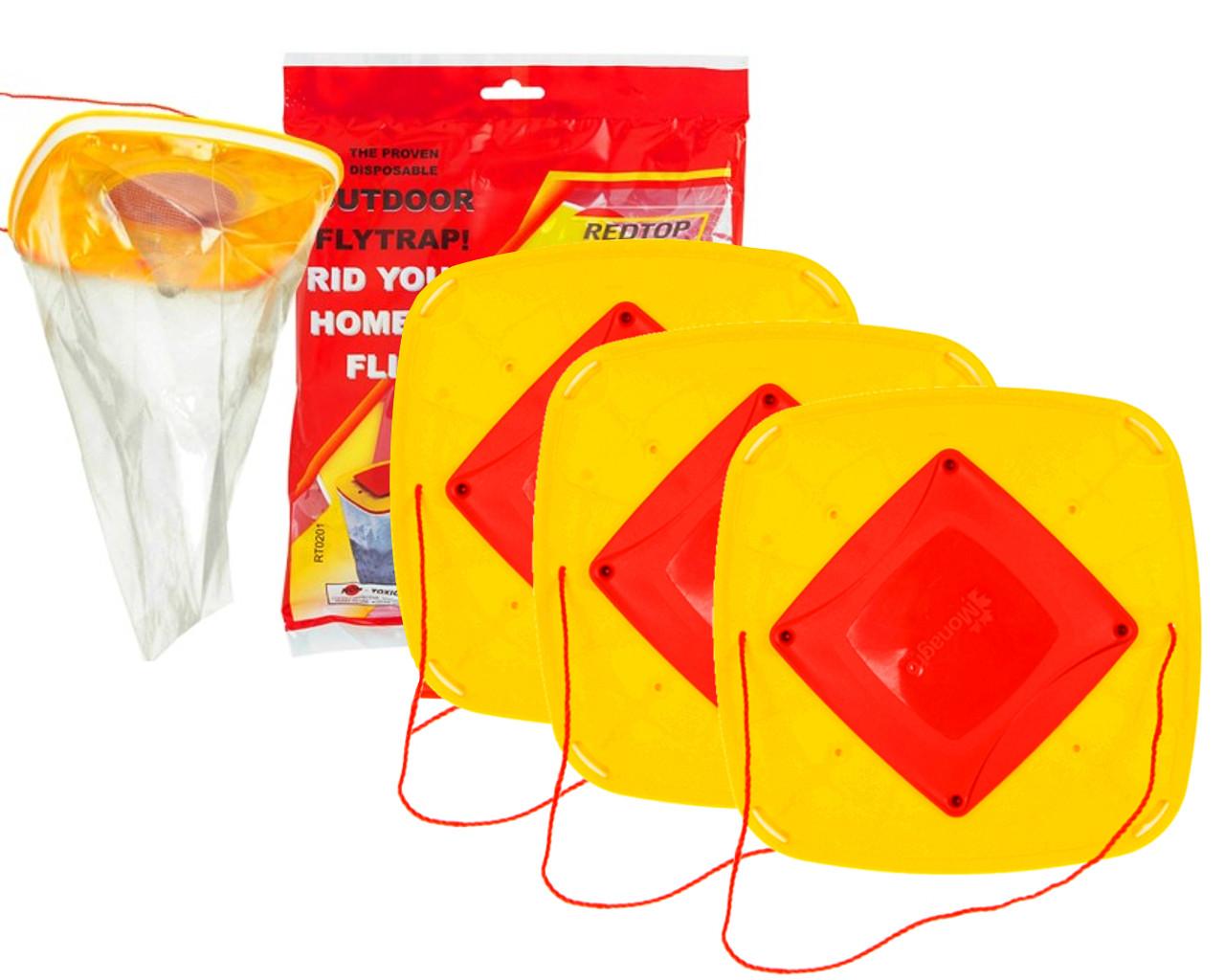 RED TOP 8L  Самая эффективная ловушка для мух на рынке - REDTOP Flycatche