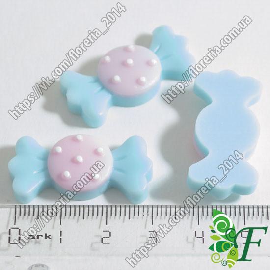 Серединка конфетка большая голубая
